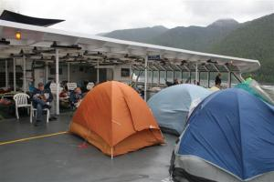 Some prefer camping on the boat; we preferred not to camp.