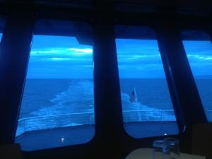Dinner aboard the Columbia