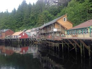 A shopping area in Ketchikan.