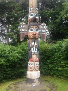 One of many Totem Poles in Ketchikan.