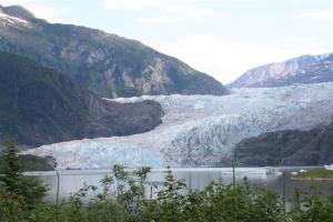 The Mendenhall glacier in Juneau