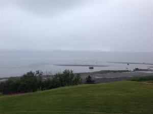 View of Cook Inlet from our hotel in Homer