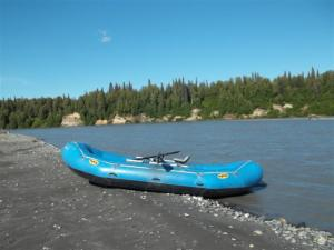 Our ride for 27 miles down the Chulitna river