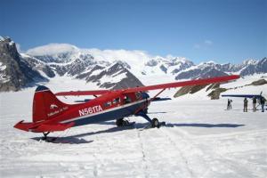 A '53 Dehavilland Beaver, our ride to a glacier on McKinley