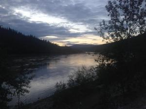 Sunset on the Yukon River at 11:05 pm